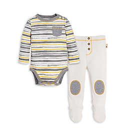 Burt's Bees Baby® Preemie 2-Piece Honey Fields Bodysuit and Thermal Pant Set in Ivory