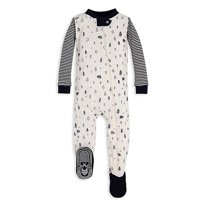 Alternate image 1 for Burt's Bees Baby® Bear Mountain Organic Cotton Toddler Footie