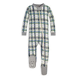 Burt's Bees Baby® Cozy Harvest Plaid Organic Cotton Toddler Footie in Blue