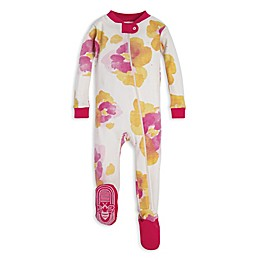 Burt's Bees Baby® Exploded Pansies Organic Cotton Toddler Footie in Pink/Yellow