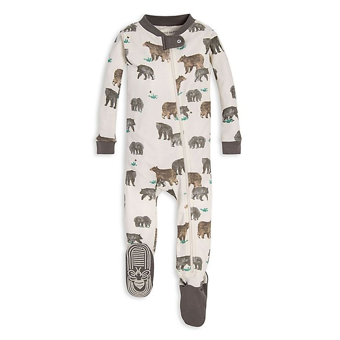 Alternate image 1 for Burt's Bees Baby® Friendly Bears Organic Cotton Toddler Footie