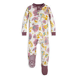 Burt's Bees Baby® Poppies and Mustard Organic Cotton Toddler Footie in Purple