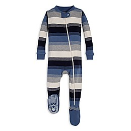 Burt's Bees Baby® Triple Wide Stripe Organic Cotton Toddler Footie in Blue
