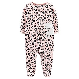 carter's® Cheetah Zip-Front Footie