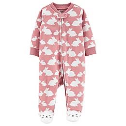 carter's® Bunny Print Footie in Pink
