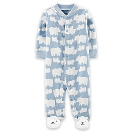 carter's® Bear Print Footie in Blue