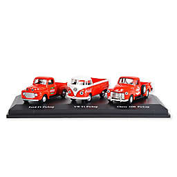 Coca-Cola® 1/72 Scale Classic Pickups Diecast Cars (Set of 3)