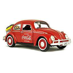 Coca-Cola® 1/24 Scale 1967 Volkswagen Beetle Dicast Car with Rear Luggage Rack
