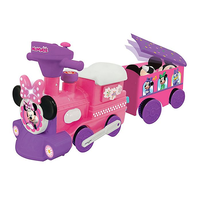 Alternate image 1 for Disney® Minnie Mouse Train Activity Ride-On