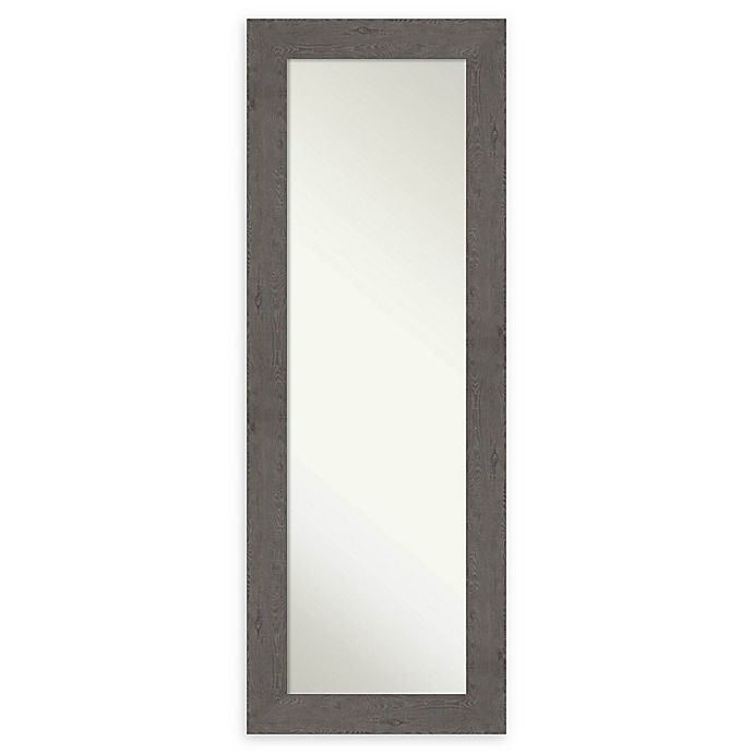 Alternate image 1 for Amanti Art Rustic Plank 19-Inch x 53-Inch Framed On the Door Mirror in Grey