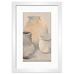 PTM Images Clay Pots 20-Inch x 14-Inch Framed Wall Art