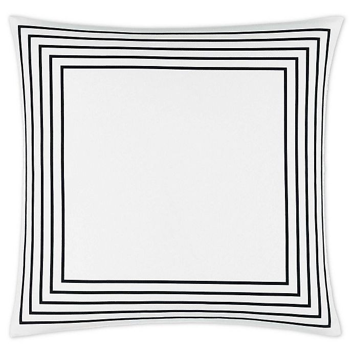 Alternate image 1 for Jonathan Adler™ Concentric Frame 18-Inch Square Throw Pillow in Charcoal