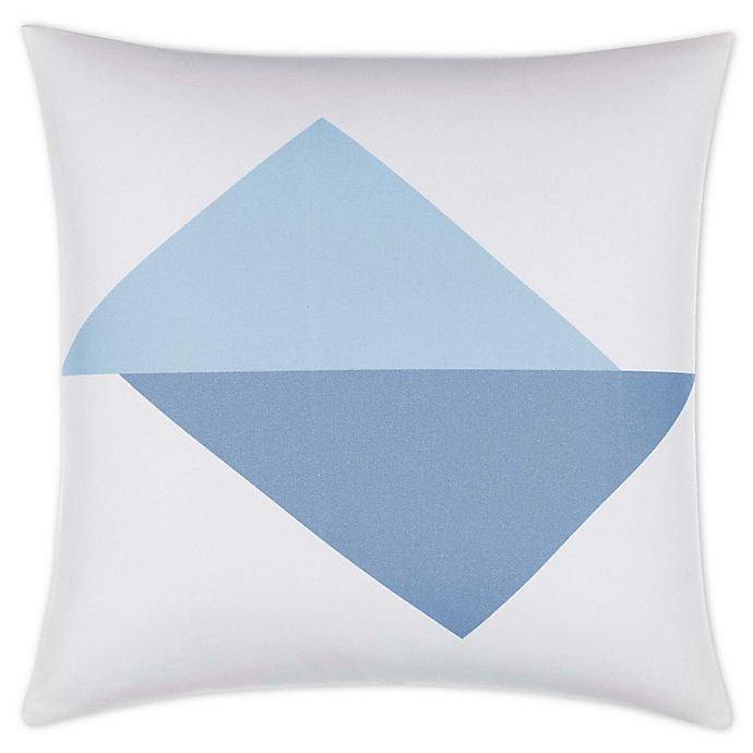 Alternate image 1 for Jonathan Adler™ Graphic Triangle 18-Inch Square Throw Pillow in Slate Blue
