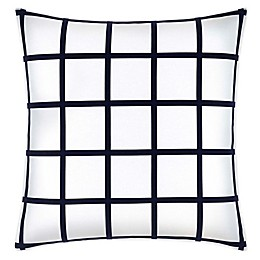 Jonathan Adler™ Grid 20-Inch Square Throw Pillow in White