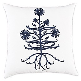 Bee & Willow™ Home with Lauren Liess Chicory Embroidered Square Throw Pillow in Indigo