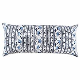 Bee & Willow™ Home with Lauren Liess Boho Striped Oblong Throw Pillow in Blue/Ivory