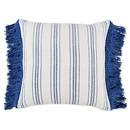 Bee & Willow™ Home with Lauren Liess Striped Square Throw Pillow in Blue