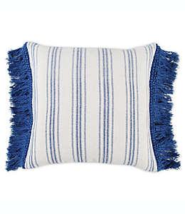 Cojín decorativo de algodón Bee & Willow™ Home with Lauren Liess con diseño a rayas color azul