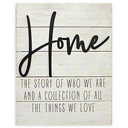 "Stratton Home Décor ""Home"" 15.75-Inch x 20-Inch Metal Wall Art"