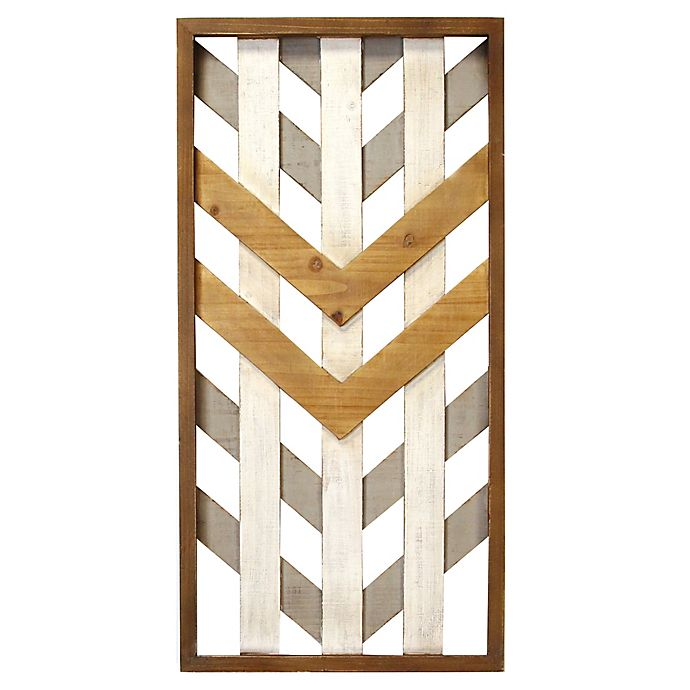 Stratton Home D Eacute Cor 15 74 Inch X 31 50 Inch Framed Geometric Wood Wall Panel Bed Bath Beyond
