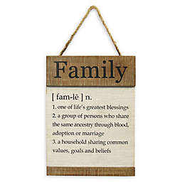 "Stratton Home Décor ""Family"" 11.8-Inch x 15.75-Inch Hanging Wood Wall Art"