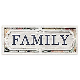 Stratton Home Decor Floral Family 31.5-Inch x 11.81-Inch Wall Art in White/Blue
