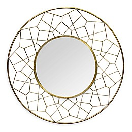 Stratton Home Décor Aimee 35.63-Inch Round Wall Mirror in Gold