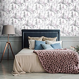 Mystical Forest Wallpaper in Lilac