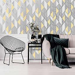 Milan Geo Non-Woven Wallpaper in Grey