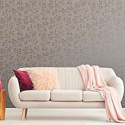 Milan Trail Textured Vinyl Wallpaper in Rose Gold/Grey
