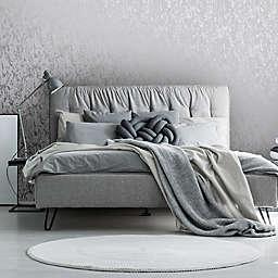 Milan Texture Vinyl Wallpaper in Silver/Grey