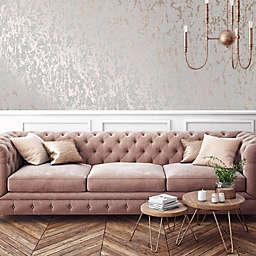 Milan Texture Vinyl Wallpaper in Rose Gold/Grey