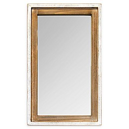 Stratton Home Décor Adeline 16.5-Inch x 27-Inch Wall Mirror in White