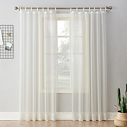 No.918™ Emily Voile Rod Pocket Sheer Tab Top Window Curtain Panel