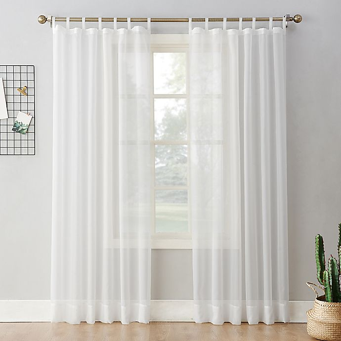 Alternate image 1 for No.918® Emily Voile Rod Pocket Sheer Tab Top Window Curtain Panel (Single)