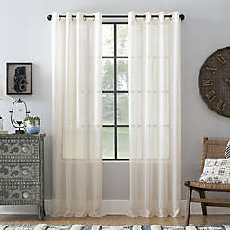 Archaeo® Slub Linen 63-Inch Grommet Semi-Sheer Window Curtain Panel in Ivory