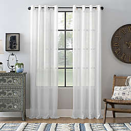 Archaeo® Slub Linen Grommet Semi-Sheer Window Curtain Panel (Single)