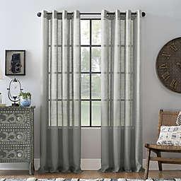 Archaeo® Slub Linen 63-Inch Grommet Semi-Sheer Window Curtain Panel in Gray