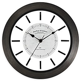 FirsTime & Co.® Foundry 11-Inch Wall Clock in Brown