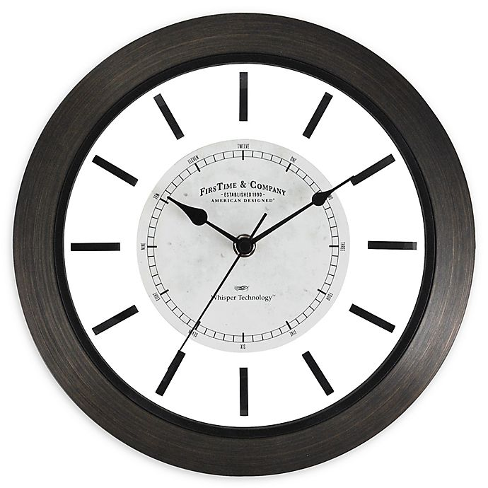 Alternate image 1 for FirsTime & Co.® Foundry 11-Inch Wall Clock in Brown