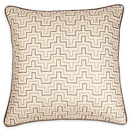 Stavros' Signature Destinations Siam Zig Zag Embroidered Throw Pillow in Silver/Ivory