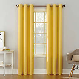 No.918® Montego Textured 84-Inch Grommet Semi Sheer Curtain Panel in Yellow (Single)