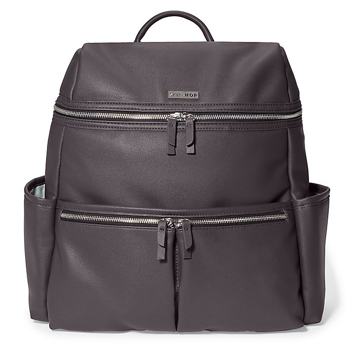 Alternate image 1 for SKIP*HOP® Flatiron Diaper Backpack in Grey Raisin
