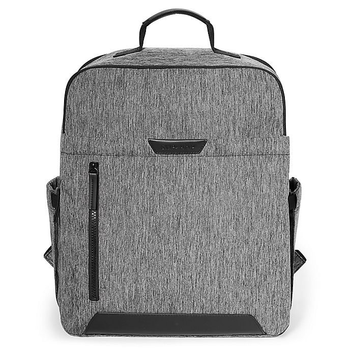 Alternate image 1 for SKIP*HOP® Baxter Diaper Backpack in Grey
