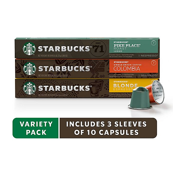 Alternate image 1 for Starbucks® by Nespresso® Variety Pack Coffee 30-Count Capsules