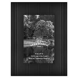 Bee & Willow™ Home 4-Inch x 6-Inch Beadboard Picture Frame in Black