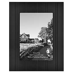 Bee & Willow™ Home 5-Inch x 7-Inch Beadboard Picture Frame in Black