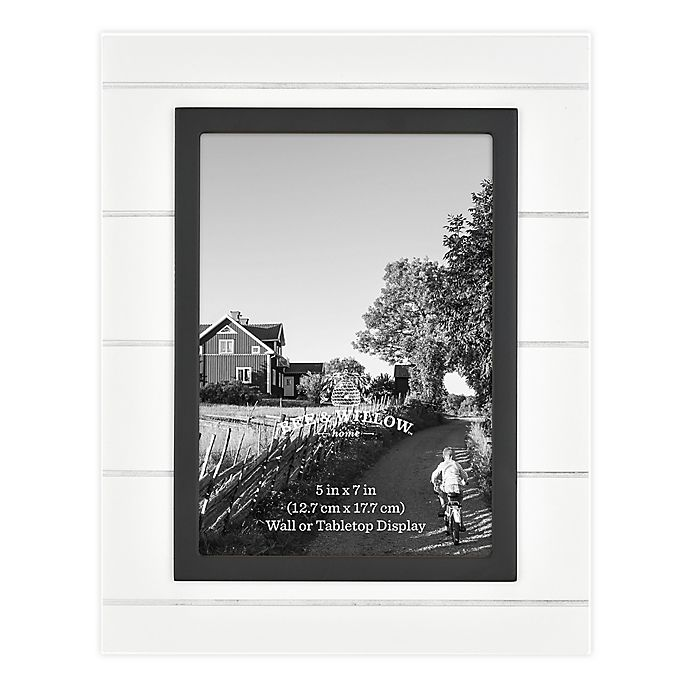 Alternate image 1 for Bee & Willow™ Home 5-Inch x 7-Inch Beadboard Picture Frame in White/Black