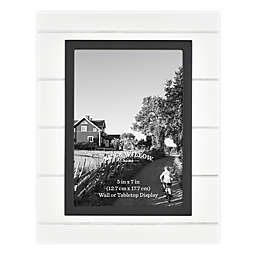 Bee & Willow™ Home 5-Inch x 7-Inch Beadboard Picture Frame in White/Black
