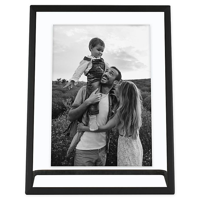 Alternate image 1 for Bee & Willow™ Home 7-Inch x 9-Inch Metal Float Frame with Stand in Black